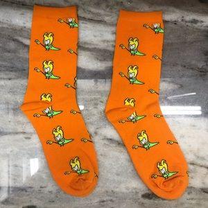 Bright Orange Loki Socks Marvel